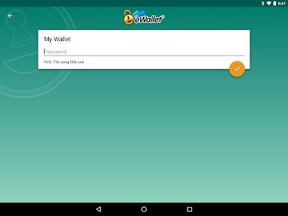 eWallet - Captura de pantalla del administrador de contraseñas